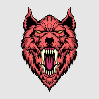 Ilustração de lobo assassino