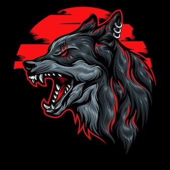 Ilustração de lobo