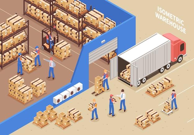 Ilustração de logística e armazém