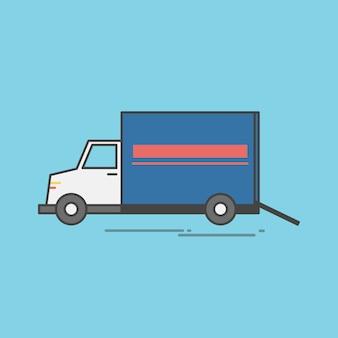 Ilustração, de, logística, serviço, vetorial, jogo