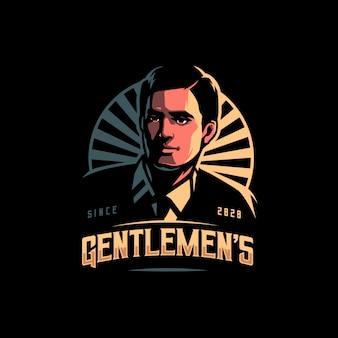 Ilustração de logotipo de cavalheiros