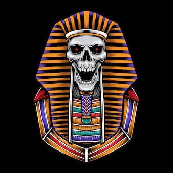 Ilustração de logotipo de esfinge de crânio
