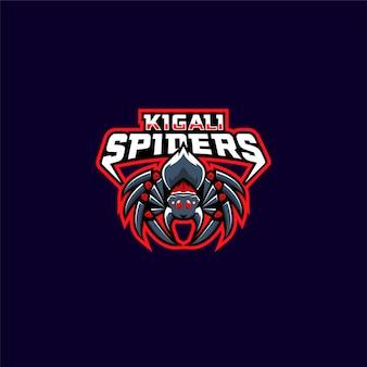 Ilustração de logotipo de esporte de aranha vermelha