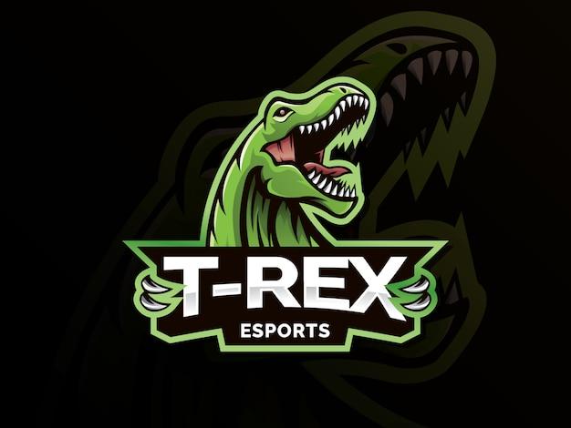 Ilustração de logotipo de mascote de esporte dinossauro