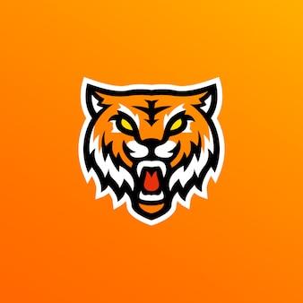 Ilustração de logotipo de mascote de tigre