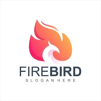 Ilustração de logotipo de pássaro de fogo
