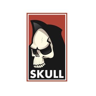 Ilustração de logotipo, ícone ou crânio do crânio