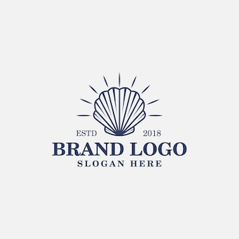 Ilustração de logotipo vintage de molusco