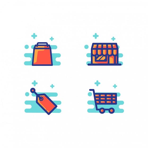Ilustração de loja online