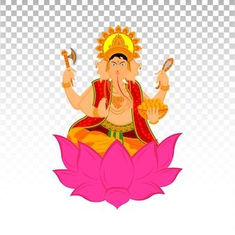 Ilustração de lord ganesha no feriado de happy diwali do vetor indian festival premium