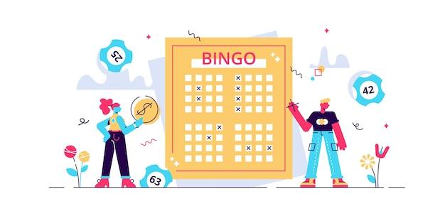 Ilustração de loteria.