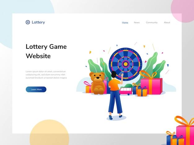 Ilustração de loteria