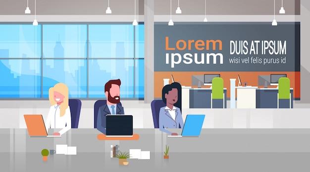 Ilustração de lugar de negócios de coworking