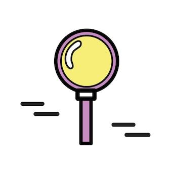 Ilustração, de, lupa, ícone