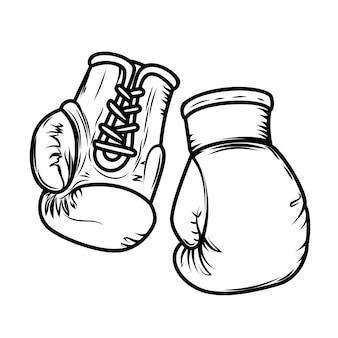 Ilustração de luvas de boxe