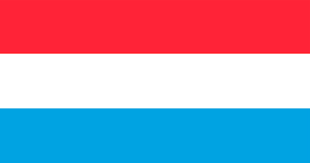 Ilustração, de, luxemburgo, bandeira