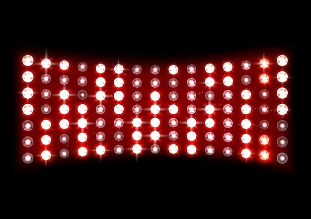 Ilustração de luz do palco vermelho