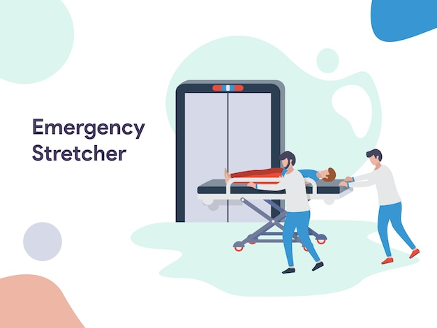 Ilustração de maca de emergência