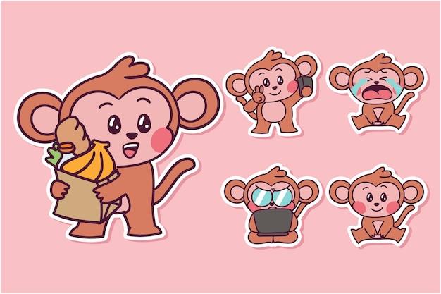 Ilustração de macaco de desenho animado