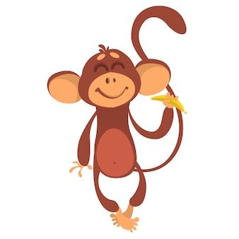 Ilustração de macaco dos desenhos animados