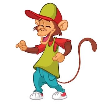 Ilustração de macaco engraçado dos desenhos animados