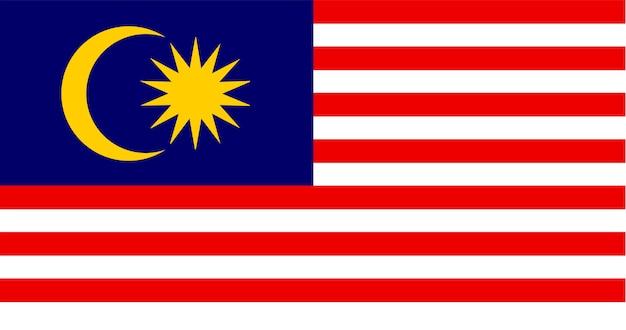 Ilustração, de, malásia, bandeira