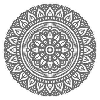Ilustração de mandala abstrata bonita e decorativa de conceito circular