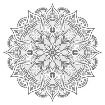 Ilustração de mandala de círculo redondo abstrato para decoração