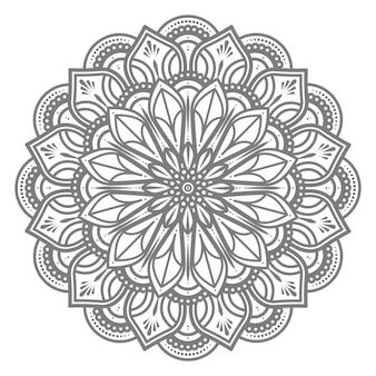 Ilustração de mandala de círculo redondo para conceito abstrato e decorativo