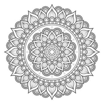 Ilustração de mandala de estilo de círculo desenhado à mão