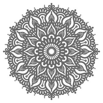 Ilustração de mandala de estilo étnico e oriental para decoração