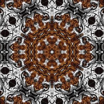 Ilustração de mandala de fractal colorido