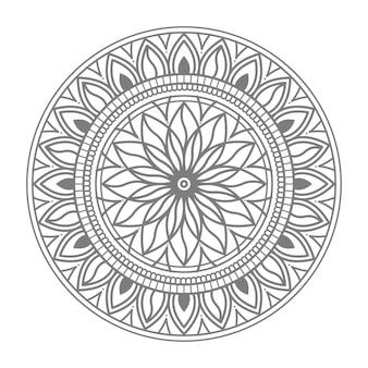 Ilustração de mandala de ornamento floral círculo redondo