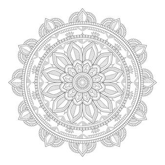 Ilustração de mandala de ornamento redondo decorativo