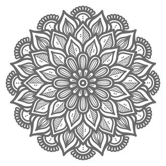 Ilustração de mandala decorativa de conceito decorativo para resumo e decoração Vetor Premium