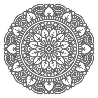 Ilustração de mandala decorativa desenhada à mão