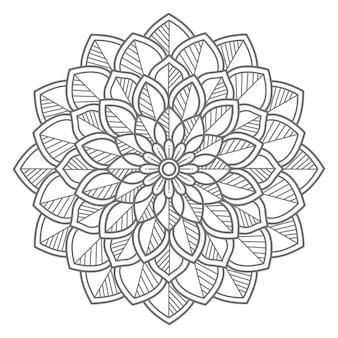 Ilustração de mandala decorativa floral