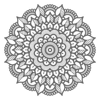 Ilustração de mandala floral abstrata e decorativa