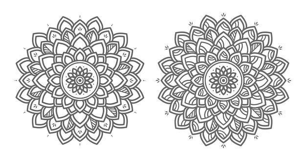 Ilustração de mandala floral decorativa Vetor Premium