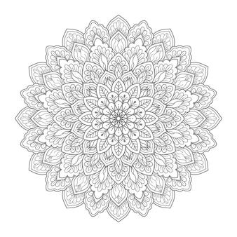 Ilustração de mandala floral
