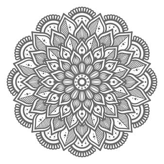 Ilustração de mandala linda e adorável para conceito abstrato e decorativo
