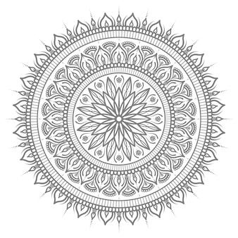 Ilustração de mandala oriental étnica com estilo circular redondo para conceito abstrato e decorativo