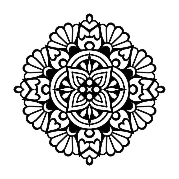 Ilustração de mandala ornamental de luxo