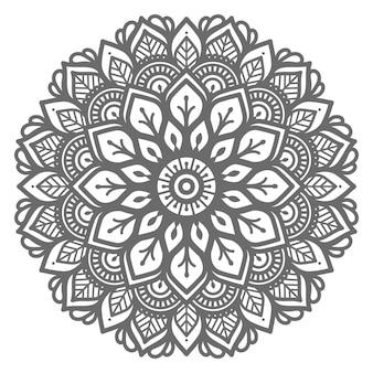Ilustração de mandala para conceito abstrato e decorativo Vetor Premium