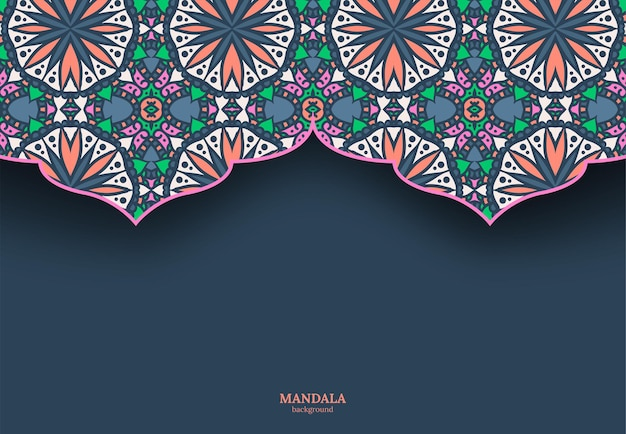 Ilustração de mandala
