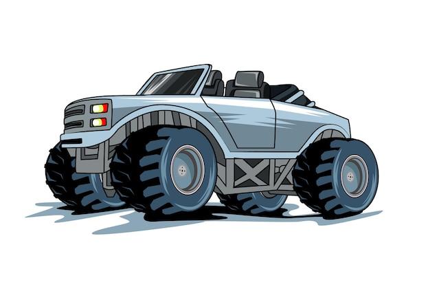 Ilustração de mão de ilustração de caminhão monstro desenho