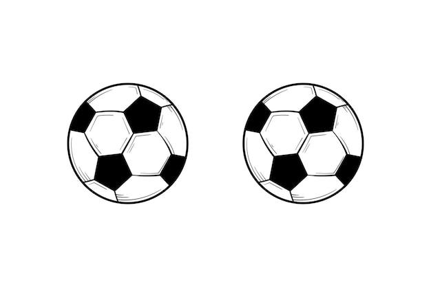 Ilustração de mão desenhada de bola de futebol