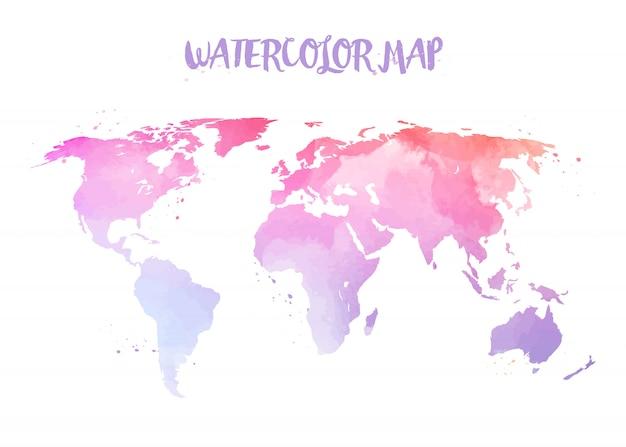 Ilustração de mapa do mundo.