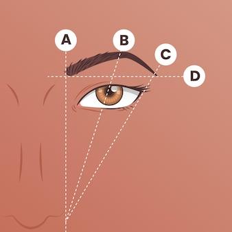 Ilustração de mapeamento gradiente de sobrancelha
