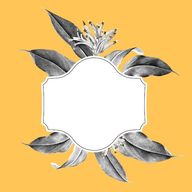 Ilustração de maquete de planta tropical